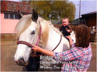 Grandson Ethan with Belinda on Mothers Day at Bridge Farm
